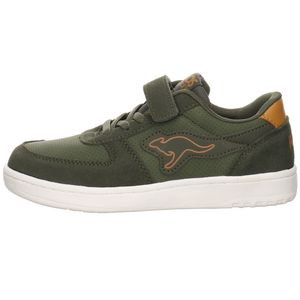 Kangaroos Kinder Sneaker  Lederkombination grün 40