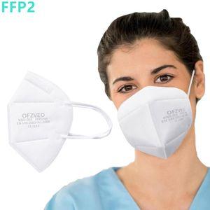 100x FFP2 / Atemschutzmaske OP Maske Mundschutzmaske Filtermaske Gesichtsmaske Wiederverwendbar Respirator Masken