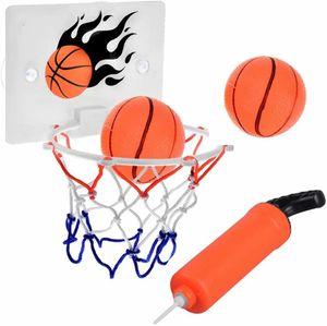 Mini Basketballkorb mit Bälle und Pumpe, Mini Büro Basketballkorb mit Saugnapf Sport Basketball beim Büro Zimmer für Kinder