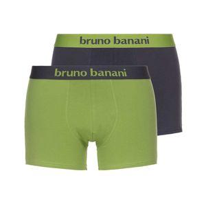 Bruno Banani Herren Boxershorts, 2er Pack - Flowing, Baumwolle Grün/Grau M (Medium)