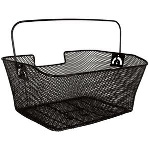 Gepäckträgerkorb - Fahrradkorb hinten  mit Tragebügel - schwarz