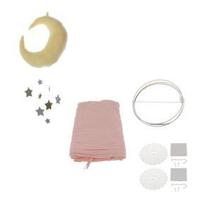 Prinzessin Bett Baldachin Baby Kinder Lesen Spielen Zelte Baumwolle Moskito Bettwäsche Netz Rosa Farbe Mit Hängenden Mond u0026 Stern Anhänger Nachbildung