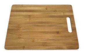 Schneidebrett Kochbrettchen Brotzeitplatte Servierplatte Bambus 35 x 25 cm 1 Stück