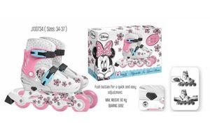 Kinder Inliner Inline Rolle Skates Skater Inlineskating Rollschuhe Disney  Minnie Mouse Maus verstellbar Größe 34 35 36 37 cm STAMP J100734