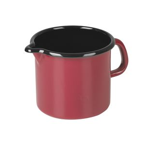RIESS Milchtopf 1l Ø12cm, Emaille, rot