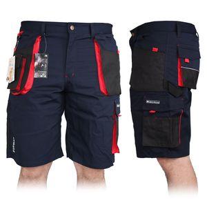 Arbeitshose Kurze Hose Kurz Bermuda Shorts Blau Schwarz Rot Gr. XXL