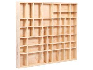 Setzkasten Holz Deko Regal Natur Sammlerkasten, Größe wählen:45.7cm-52cm-3.6cm