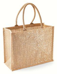 Westford Mill Jute-Tasche Shimmer Jute Shopper W437 Gold Natural Gold 42 x 33 x 19 cm