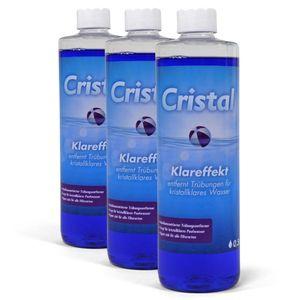 Spar-SET> 3x CRISTAL Klareffekt 0,5 l