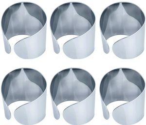 6 Serviettenringe aus Edelstahl