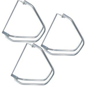 3 Stück Fahrradständer zur Wandmontage Verstellwinkel: 0–180°, Wandhalterung für je 1 Fahrrad