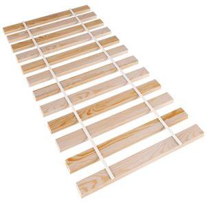 Rollrost Holz 90 x 200 cm Fichte Lattenrost stabil Hochbett Leisten 14 Latten Holzlatten unverstellbar für alle Matratzen und Kinderbetten Bettrost Bettrahmen (90x200)
