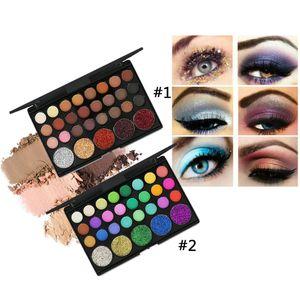 2 Stücke Super Pigmented Matte und Schimmer 29 Farben Lidschatten Palette Eyeshadow Pulver Make Up Kosmetikpalette