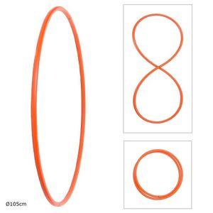Faltbarer Hula Hoop, HDPE-20mm, Orange, Ø105 cm