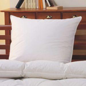 Kopfkissen 80x80 cm Daunen-Feder-Kissen | Bezug aus 100% Baumwolle