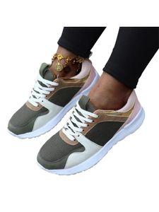 Damen Freizeitschuhe erhöhen Atmungsaktive Laufschuhe,Farbe: Grün,Größe:40