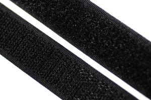 dalipo - Klettband  zum annähen, aufnähen - 20 mm Breite - schwarz