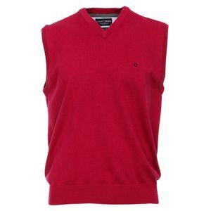 Größe L Casamoda Pullunder Rot Ärmellos Normal Geschnitten V- Neck Ausschnitt 100% Baumwolle