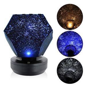 Romantische LED Starry Night Lampe 3D Star Projektor Licht fuer Kinder Schlafzimmer Constellation Projection Home Planetarium