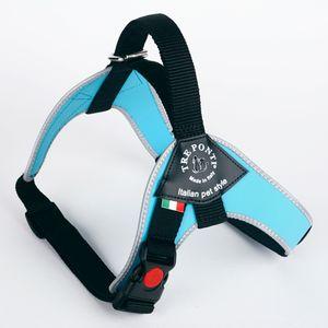 Tre Ponti Geschirr Brio hellblau reflektierender Rand 70 - 85 cm bis ca 20 - 30 kg