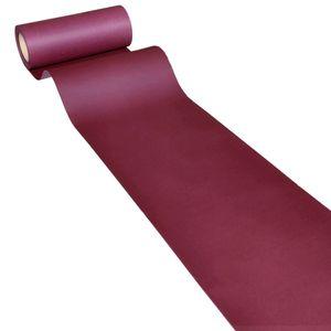 50m x 0,20m JUNOPAX® Papier Tischband weinrot