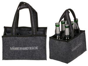 Männerhandtasche Einkaufstasche für 6 Flaschen Tasche Bier Tragetasche Party