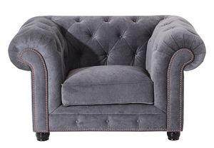Max Winzer Orleans Sessel - Farbe: grau - Maße: 135 cm x 100 cm x 77 cm; 2911-1100-2044116-F07