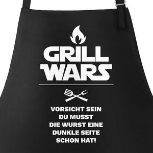 Grill wars Schürze für Männer mit Spruch Moonworks® schwarz unisize