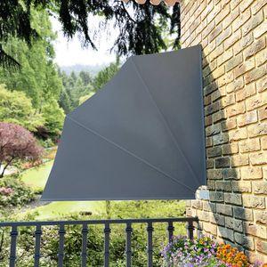 anlund Faltbarer Balkonfächer Grau 140×140 cm