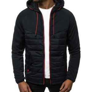 Herren Kapuzen-Pullover-Jacke Kapuzen-Langarm-Freizeitjacke,Farbe: Schwarz,Größe:L