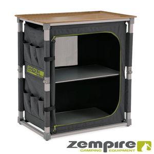 Design Campingschrank vollständig faltbar – mit zusätzlichem, seitlichem Regal zum Ausziehen – EXTREM robust Zempire Fold Single ZE-0170404