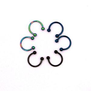 Edelstahl Lippen Nase Piercing Septum Ringe Hufeisen Circular Barbell 3 Paar