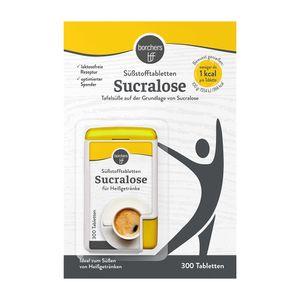 borchers Sucralose Süßungstabletten   Im Spender   Tafelsüße   Für Kaffee, Tee und Heißgetränke    300 Tabletten