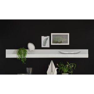 Wandboard COGO-61 in weiß Hochglanz Wandregal BxHxT: 217x22x18cm