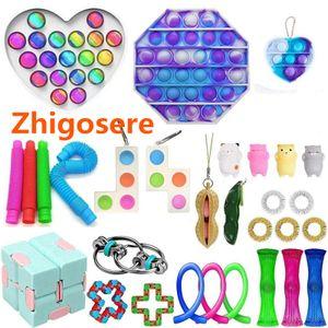 30 Stück / Set Push Bubble Fidget Antistress Toys  Pop Fidget Sensory Toy für Erwachsene Kinder