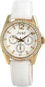 Just Uhr Chronograph JU10121-003 weiß goldfarbig Armbanduhr