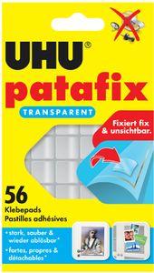 UHU Klebepads patafix wieder ablösbar transparent 15 x 12 mm 56 Klebepads