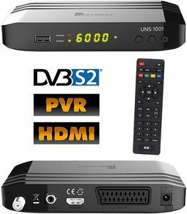CYE UNS1001PVR digital Satelliten Sat Receiver (HDTV, DVB-S/S2, HDMI, Scart, Display, USB 2.0, EPG, Full HD 1080p, PVR Aufnahmefunktion)[vorprogrammiert für Astra Hotbird] - schwarz
