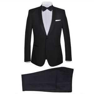 Huicheng 2-tlg. Herren Anzug Abendanzug/Smoking Tuxedo Schwarz Größe 50