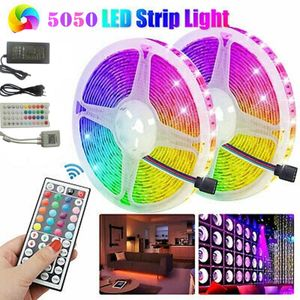 10M RGB LED Stripe 5050 SMD Leiste Streifen Band Licht Leuchte Lichterkette