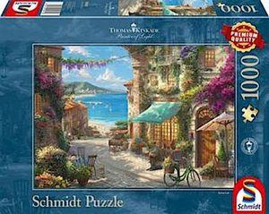 Schmidt Spiele Puzzle 1000 Teile Thomas Kinkade Cafe an der italienischen Riviera