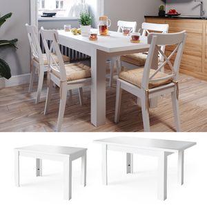 Vicco Esstisch Esszimmertisch Küchentisch ausziehbar 120-160x80cm weiß Tisch