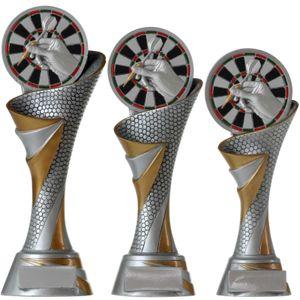 Dart FG Pokal Größe M 24,5 cm Trophäe Darts mit Emblem 70 mm