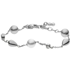Skagen Damen Armband AGNETHE Stahl Perle Glas 21 cm