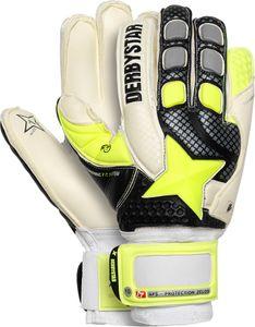 Derbystar APS Protection Zelos Torwarthandschuhe weiß schwarz gelb 8