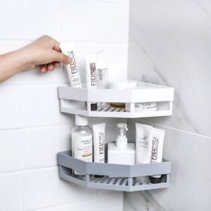 2x Duschkorb Kein Stanzen Duschregal Ohne Bohren Duschablage für Badezimmer