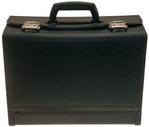 PROMAT Werkzeugtasche Rindleder ABS schwarz 390x185x310mm lose Mittelwand