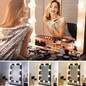 10x LED Schminkspiegel Lichter Lampe Hollywood Stil für Make Up Schminktisch Kit
