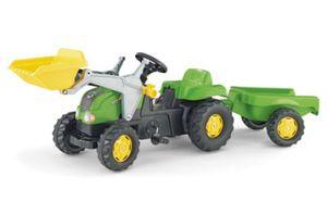 rolly toys Kid Trettraktor mit Schaufellader und Anhänger grün/silber, Maße: 161x47x55 cm; 02 313 4