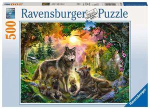 Wolfsfamilie im Sonnenschein Ravensburger 14745